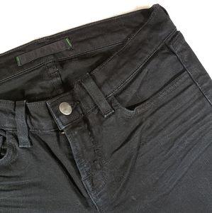 J BRAND Black Cigarette Leg Low Rise Jeans sz 26